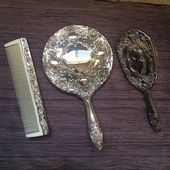 International Silver Company Accessories Silver Plated 3 Pieces Dresser Set Poshmark